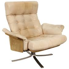 Vintage Leather Recliner Vintage Leather Lounge Chair By Soren Nissen And Ebbe Gehl At 1stdibs