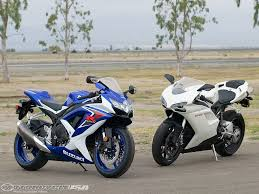 2008 ducati 848 vs suzuki gsx r750 motorcycle usa