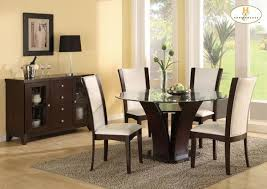 Espresso Dining Room Furniture Homelegance Daisy Round Glass Top Dining Table Beyond Stores