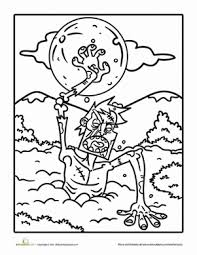 7 ghoulish coloring pages halloween education