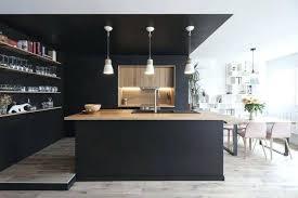 cuisine noir mat et bois cuisine noir mat cuisine noir mat plan de travail bois