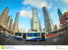 Modern City by Modern City Street Scene In Shanghai Stock Photography Image