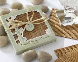 coaster favors bamboo eco friendly coaster favors four coasters per favor