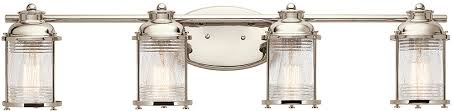 kichler 45773pn ashland bay polished nickel 4 light bathroom light