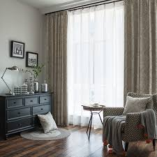 Patterned Blackout Curtains Modern Neutral Patterned Chenille Thermal Blackout Curtains