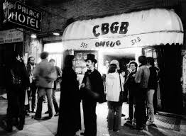 back in the punk days when cbgb was the place to be cbgb