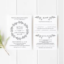 printable wedding invitations printable wedding invitation template set black and white