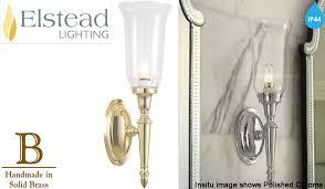 Polished Brass Bathroom Lighting Fixtures by Elstead U0027dryden U0027 Ip44 Rated Bathroom Single Wall Light Polished