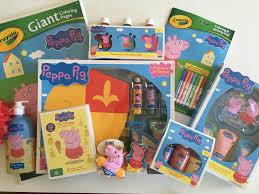 peppa pig colouring in printables plus huge peppa pig prize pack