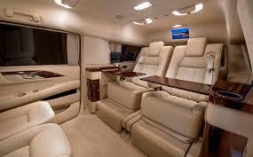 Custom Cadillac Escalade Interior Custom Stretched Cadillac Escalade Evs Offers Private Jet Like