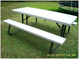 lifetime foldable picnic table picnic table plans detached benches picnic table large size of