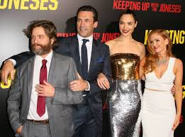 keeping up with the joneses it u0027s red carpet time for gal gadot and u0027the joneses u0027 from the