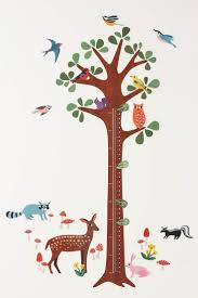157 best kids wall stickers images on pinterest wall decals wallies woodland growth chart