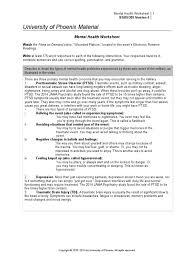 mental health worksheet psychological trauma posttraumatic