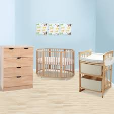 Stokke Baby Changing Table Stokke Sleepi 3 Nursery Set Modern Oval Crib With Mattress