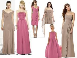 a delicious pink u0026 beige wedding colour combo for your bridesmaids