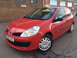 renault clio 1 5 dci expression 3 door manual diesel red 91k miles