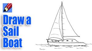 drawn sailing sailing boat pencil and in color drawn sailing