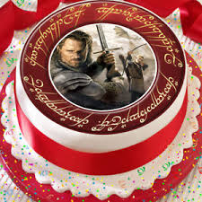 lord of the rings cake topper lord of the rings aragorn 7 5 inch precut edible cake topper
