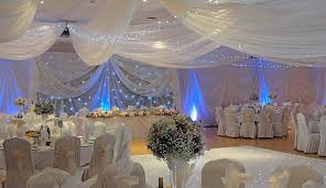 wedding draping ivory draping with blue lighting and cloth misc ideas