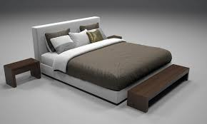 Box Spring Free Bed Frame by Realistic Bed Model With Materials 2 By Numetal 3docean