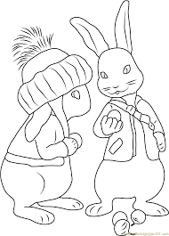 benjamin bunny coloring page free peter rabbit coloring pages