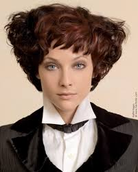 wedge shape hair styles short wedge shape hairstyle with brown curls