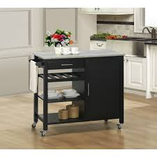 kitchen island cart black