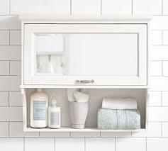 Bathroom Wall Cabinet With Towel Bar Bathroom Storage Pottery Barn