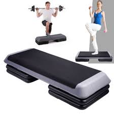 aerobic 3 stack level step fitness exercise workout bench gym