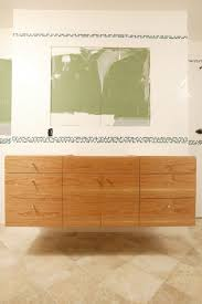 bathroom unfinished oak wood floating bathroom vanity cabinet and
