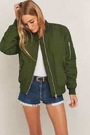 light bomber jacket womens jackets bomber jacket jackets for women dark khaki light before
