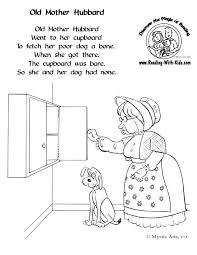 free nursery rhyme coloring pages nursery rhymes pinterest