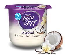 light and fit vanilla yogurt toasted coconut vanilla nonfat yogurt light fit