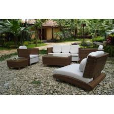 white and brown all weather wicker patio furniture outdoor