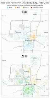 map of oklahoma the changing map of poverty and race in oklahoma