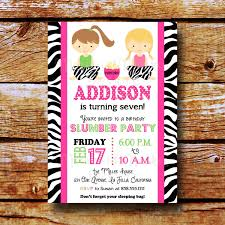 slumber party invitation sleepover invitation birthday