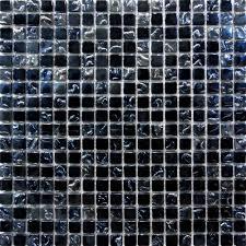 Sample Glass Mosaic Tile Silver  Black Backsplash Mm Kitchen - Silver backsplash