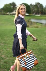 a preppy spring with banana republic pop of style