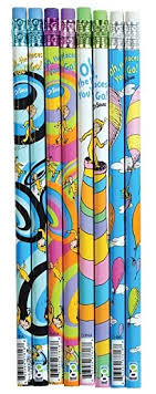 dr seuss assorted gift wrapping paper dr seuss oh the places you ll go pencil set 72