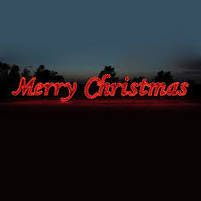 lighted merry sign lights decoration