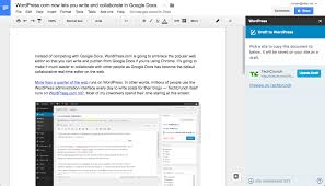 Edit Google Spreadsheet Wordpress Com Now Lets You Write And Collaborate In Google Docs