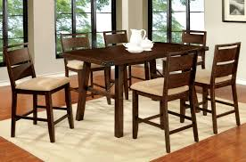 dining room counter height tables dwight 7 pc dark oak counter height table set