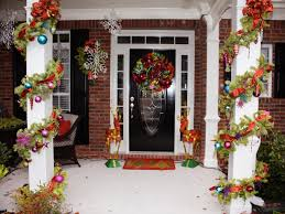 front porch christmas decorations awesome enrtry way with front porch christmas decorations plus glass