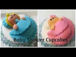 cupcakes para baby shower tiernos y muy faciles de hacer