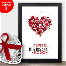 10 year wedding anniversary gifts for 10th wedding anniversary ebay