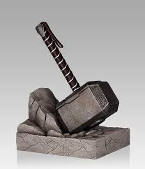 show off your books with the thor hammer bookend