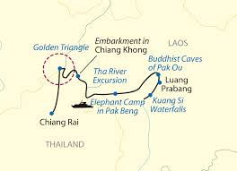 Mekong River Map Laos Revealed Cruise Mekong