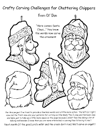 carving a santa free patterns https www