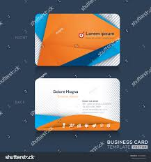 business cards template triangle abstract graphic stock vector